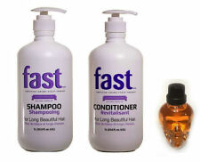 NISIM FAST Shampoo & Conditioner Set 1Litre Size + BATTALION HAIR OIL
