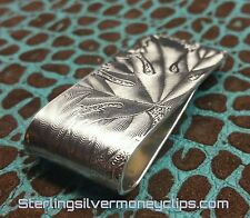 32.4g Thick EARTH CLASSIC 935 925 Argentium Sterling Silver Money Clip USA