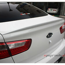 Rear Trunk Lip Spoiler PAINTED UD Clear White For 12-15 Kia Rio Sedan : Pride 4D