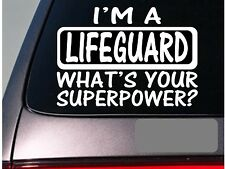 I'm a lifeguard sticker decal *E131* swimming float diving board whistle