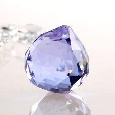 1 Purple Chandelier Glass Crystals Lamp Prisms Parts Hanging Drops Pendants 30mm