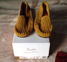 NIB Florsheim By Duckie Brown 19133 Moccasin 720 Yellow Banana SZ 10