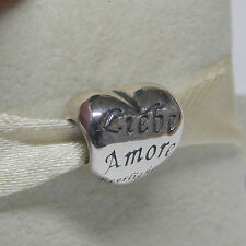 New Authentic Pandora 791111 Language Of Love Heart Bead Box Included