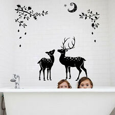 Removable Deer Silhouette Wall Sticker Nursery Room Decal Vinyl Home Mural Decor