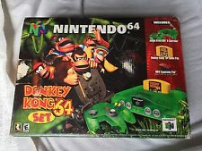 Nintendo 64 Jungle Green Console Donkey Kong Bundle with Box Game N64 COMPETE!!