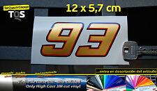 93 Marc Marquez motogp honda pegatina sticker decal aufkleber 3M 50 gold