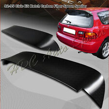 For 1992-1995 Honda Civic Hatchback Carbon Fiber Rear Window Trunk Spoiler Wing