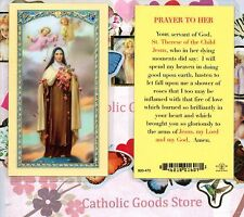 Saint Therese, the little flower - Prayer to Her - Laminated  Holy Card