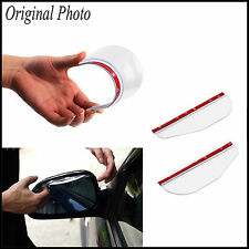 2x Тransparent Car Rear View Wing Mirror Sun Visor Shield Rain Eyebrow Guard