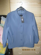 LADIES WISHWOOD (QVC) FULLY LINED BLUE JACKET. SIZE 14. BNWT. RRP £69.99.