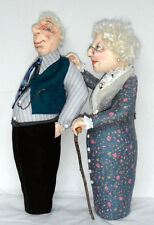 "*NEW* CLOTH ART DOLL (E-PATTERN) ""OLD FRIENDS KEEP YOU SANE!"" BY SHARON MITCHELL"