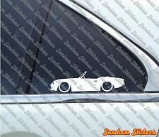 2X Lowered car outline stickers -For Triumph Spitfire Mk1 / MK2 classic roadster