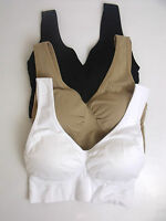 NEW LADIES CROP TOP WITH REMOVABLE PADDING COMFORT BRA VEST STRETCH SHAPEWEAR