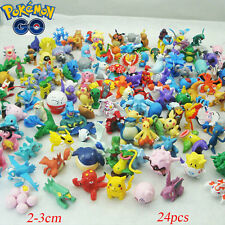 24Pcs Pokemon Monster Mini Figure 2-3cm Action Figures in Cute Toys Gifts Random