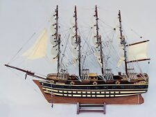 "Jyland 30"" Wooden Ship Model French Sailing Tall Boat"