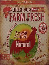 Blechschild  - Farm Fresh  -  25 cm x 35 cm- Nostalgieschild