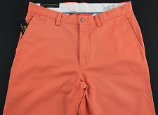 Men's POLO RALPH LAUREN Orange Twill Chino Pants 36x32 NWT NEW Classic Fit WOW!