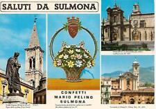 SALUTI DA SULMONA  -  Confetti MARIO PELINO  +  3 vedute.