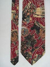 -AUTHENTIQUE cravate cravatte VERSACE  100% soie  TBEG  vintage