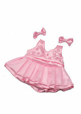 "12 ""Abito Rosa E Fiocchi-DRESS YOUR Teddy Bear PARTY KIT / Vestito"