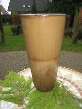 Vase Blumenvase Bodenvase Hochwertig braun beige glasiert 38 cm Höhe antik rund