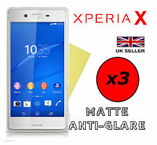 3x HQ MATTE ANTI GLARE SCREEN PROTECTOR COVER FILMS GUARDS FOR SONY XPERIA X