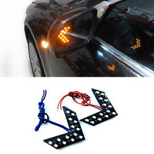 Pro 2Pcs 14 SMD LED Arrow Panel For Car Rear Mirror Indicator Turn Signal Light