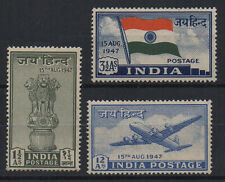 INDIA 1947 COMPLETE YEAR PACK SET OF 3V MNH - WHITE GUM