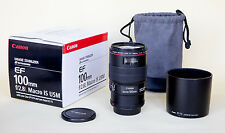 Canon EF 100mm F/2.8L Macro EF IS L USM Lens in top class condition