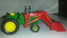 1/64 ERTL custom John deere 4020 tractor with red westendorf loader farm toy