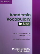 Cambridge ACADEMIC VOCABULARY IN USE Self-Study&Classroom Reference+Practice NEW