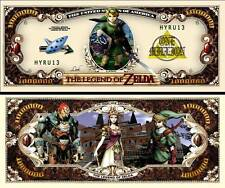 LEGEND OF ZELDA BILLET COLLECTION 1 MILLION DOLLAR US! Série Jeu Vidéo Manga the
