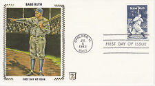 Z ZASO SILK CACHET FIRST DAY COVER FDC - 1983 BABE RUTH BAMBINO BASEBALL BR-8