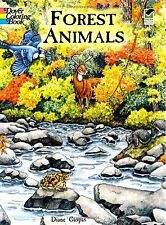 Coloring Books For Adults Kids Forest Animal Painting Art Design Relaxing Stress