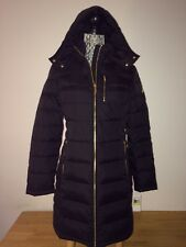 $250 MICHAEL KORS Black Quilted Down Detachable Hood  Classic Jacket Coat size M