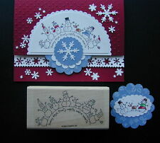 Stampin up stamp Holiday WINTER WONDERLAND SNOWMAN FAMILY deer friends CIRCLE su