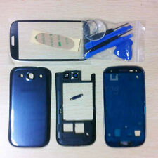 Full Housing Case + Front Glass Replacement Tool For Samsung Galaxy S3 I747 Blue