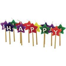 """Tala """"Happy Birthday Star"""" Birthday Cake Candles - Set of 13"""