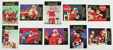 Coca Cola Santa Series 4 Gold Foil 10 Card Subset - 1995 NEW