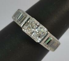 Art Deco Design 9ct White Gold White Stone Cluster Ring F0976