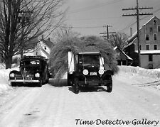 Vintage Truck Loaded with Hay, Woodstock, Vermont - 1939 - Historic Photo Print