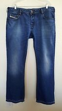 Diesel Men's ZATHAN 0073I Button-fly Bootcut Jeans Size 38 X 35