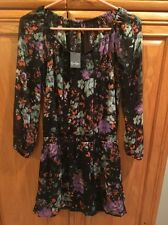 Jessica Simpson Womens Laurelle Chiffon Boho Casual Dress XS Painterly Floral