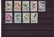 a102 - MONACO - SG730-739 MNH 1962 BIRDS USEFUL TO AGRICULTURE