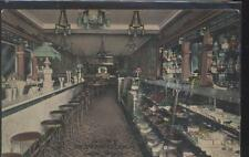 Postcard SALEM Oregon/OR  Spa's Ice Cram Parlor/Soda Fountain Lamps view 1907