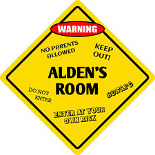 "*Aluminum* Alden's Room Kids Room Door 12""x12""  Metal Novelty Sign"