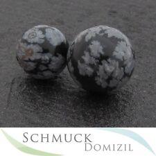 Schneeflockenobsidian Kugel - 10 mm Durchmesser für MelanO Silber Ring