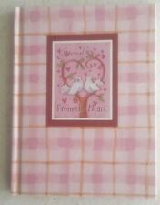 Unused Hardcover Journal Diary 'From the Heart' Book-Doves-Pink Plaid Background