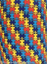 "5 Yards 3/8"" Awareness Autism Puzzle Pieces Speaks Grosgrain Ribbon"