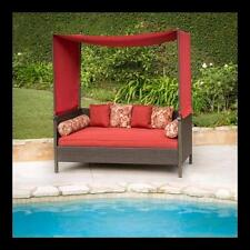 Poolside Backyard Outdoor Day Bed Canopy NEW Patio Deck Garden Lounge Seat, Red